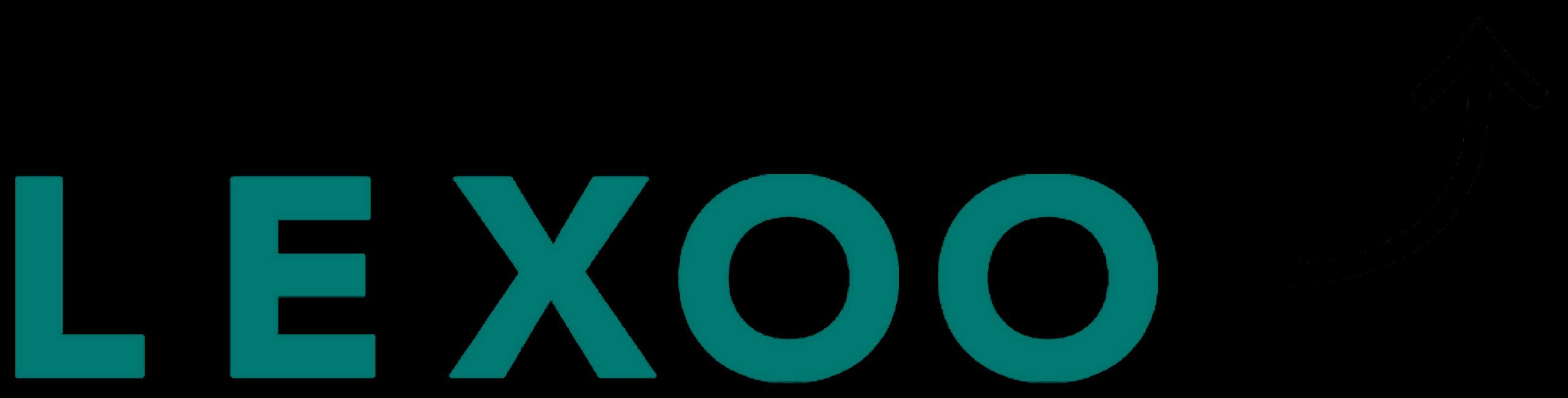 Lexoo logo with an arrow pointing up