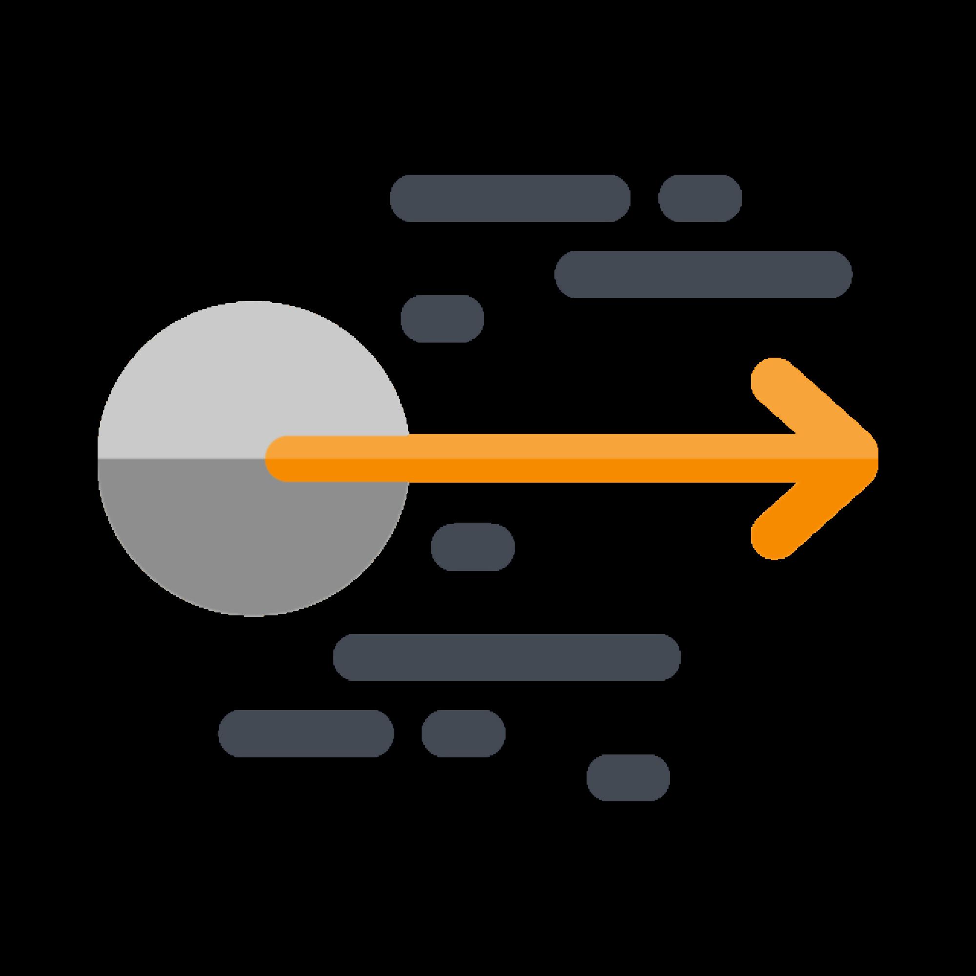 Right pointing arrow illustration